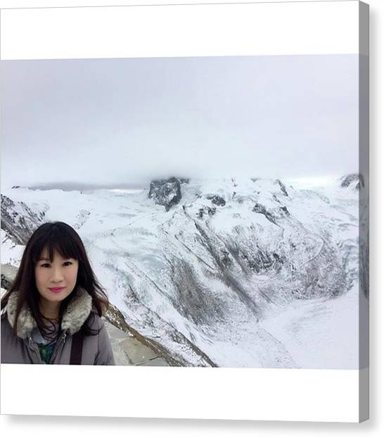 Matterhorn Canvas Print - #trip #travel #japanese #japan #girl by Y K