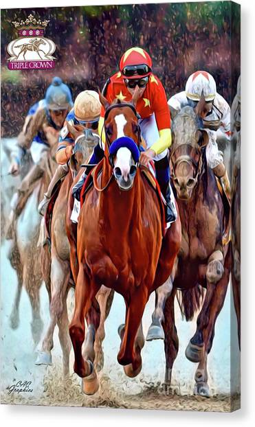 Triple Crown Winner Justify 2 Canvas Print