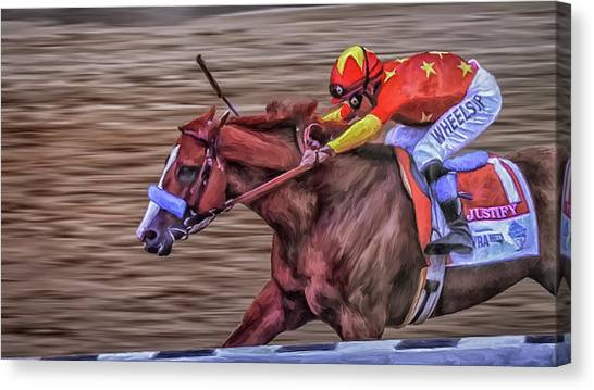 Triple Crown Winner Justify Canvas Print