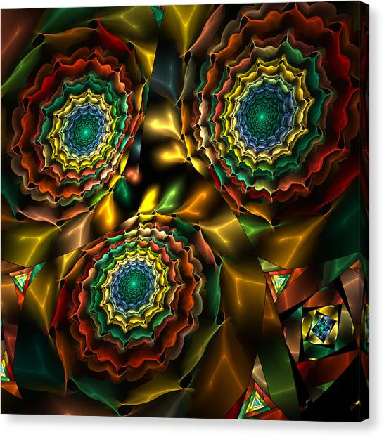 Triple Vortex Canvas Print