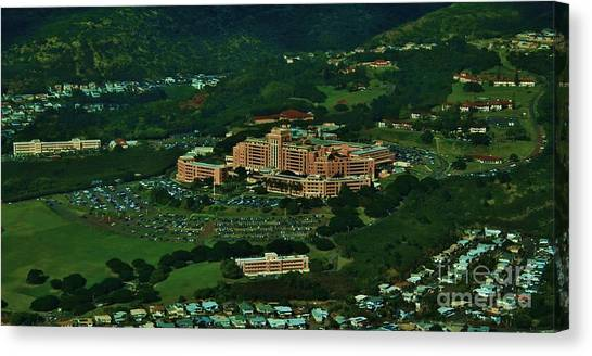 Tripler Army Medical Center Honolulu Canvas Print