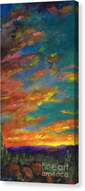 Triptych 1 Desert Sunset Canvas Print