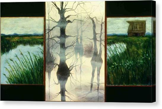 Triptych Canvas Print by Helen O Hara