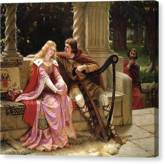 Pre-raphaelite Art Canvas Print - Tristan And Isolde by Edmund Leighton