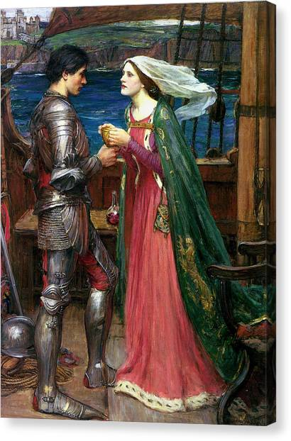 Tristan And Isolde With The Potion Canvas Print