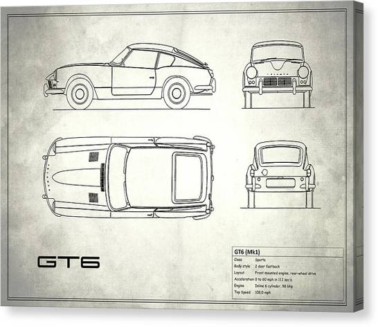 Car blueprint canvas prints page 2 of 25 pixels car blueprint canvas print triumph gt6 blueprint white by mark rogan malvernweather Gallery