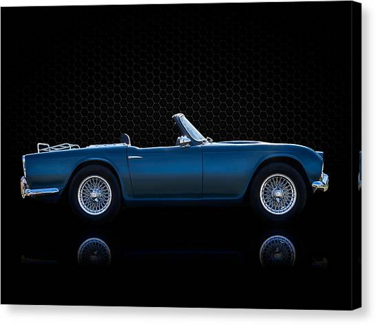 Spiders Canvas Print - Triumph Tr4 by Douglas Pittman