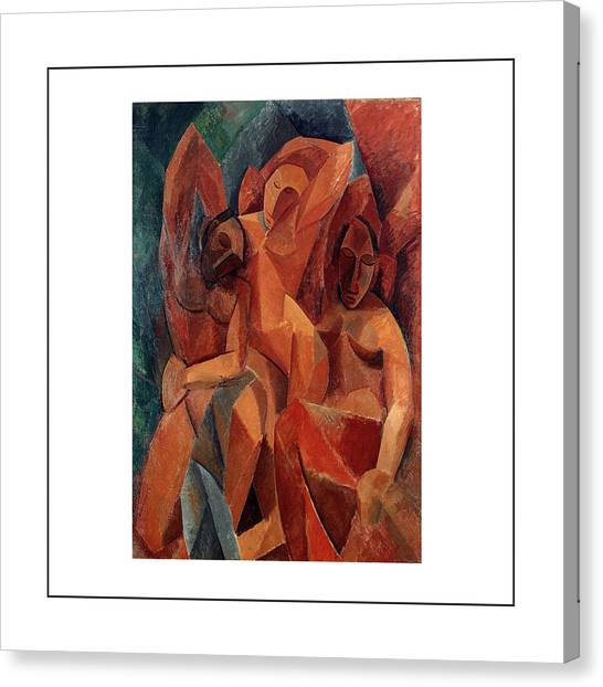 Pablo Picasso Canvas Print - Trois Femmes Three Women  by Pablo Picasso