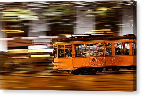 Trolley 1856 On The Move Canvas Print