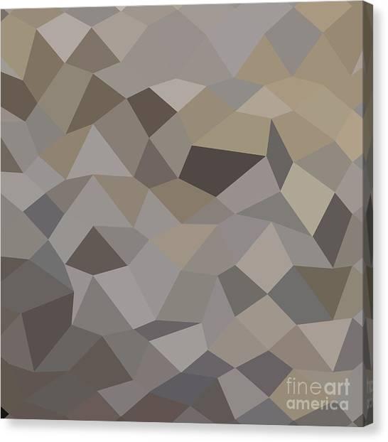 Trolley Grey Abstract Low Polygon Background Canvas Print by Aloysius Patrimonio