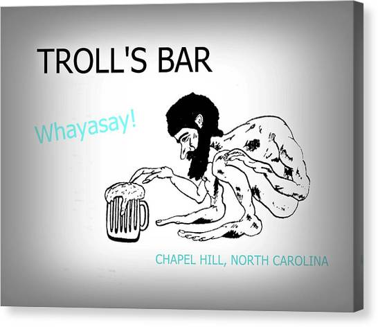Troll's Bar Chapel Hill Nc Canvas Print