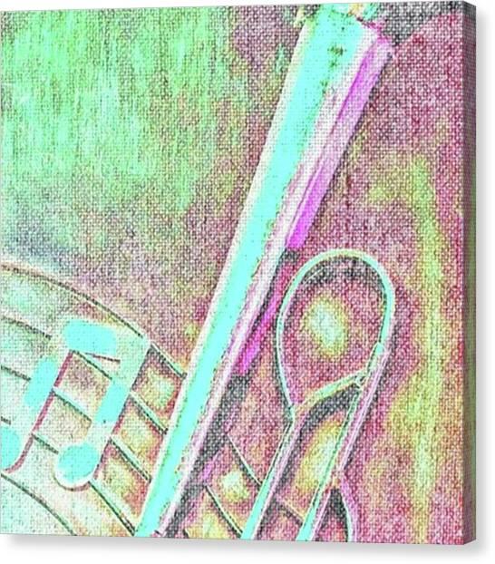 Trombones Canvas Print - Trombone 2 By Pamela Williams by Pamela Williams