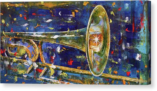 Trombones Canvas Print - Trombone by Michael Creese