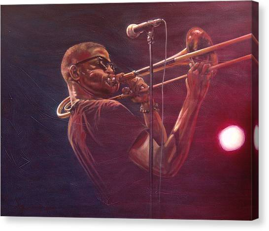 Trombones Canvas Print - Trombone Shorty by Frans Mandigers