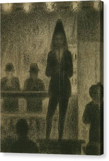 Post-impressionism Canvas Print - Trombonist  by Georges-Pierre Seurat
