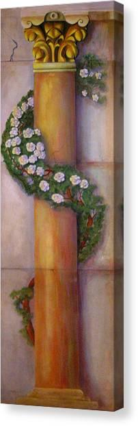 Canvas Print featuring the painting Trompe L'oeil  Column by Thomas Lupari