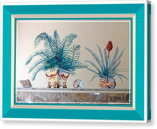 Trompe L'oeil Plants Canvas Print