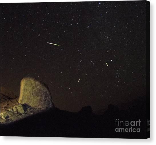 Trona Pinnacles Perseids Meteor Shower Canvas Print