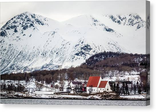 Trondenes Church Harstad Norway Canvas Print