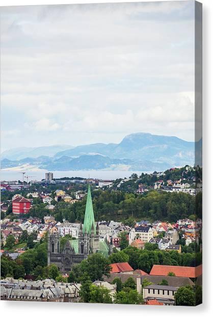 Trondheim, Norway Cityscape Canvas Print