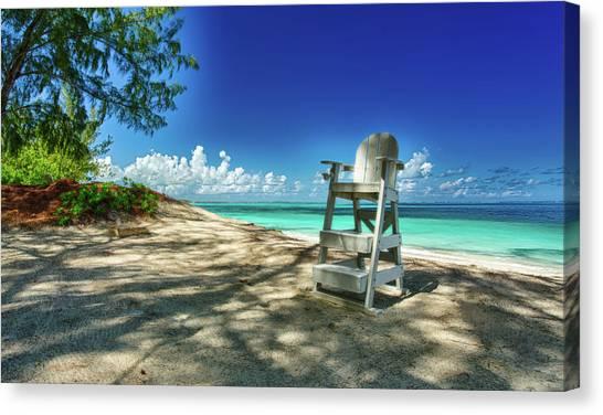Tropical Beach Chair Canvas Print