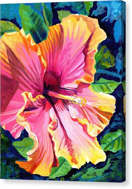 Tropical Bliss Hibiscus Canvas Print