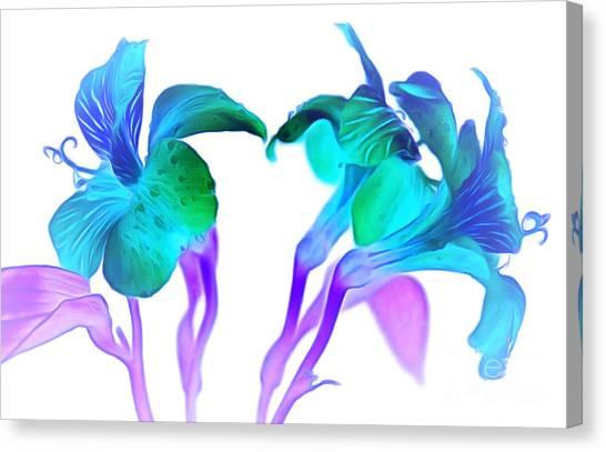 Amaryllis Canvas Print - Tropical Daydream by Krissy Katsimbras