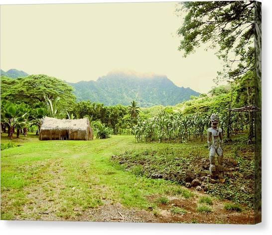 Tropical Farm Canvas Print by Halle Treanor