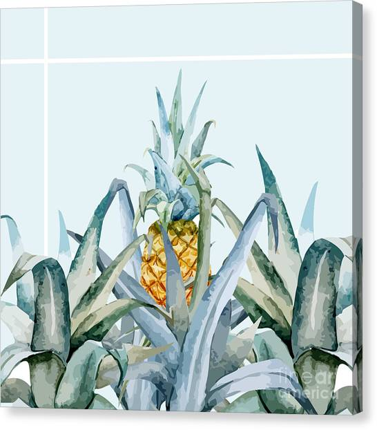 Banana Tree Canvas Print - Tropical Feeling  by Mark Ashkenazi