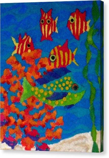 Tropical Fish Canvas Print by Jeanette Lindblad