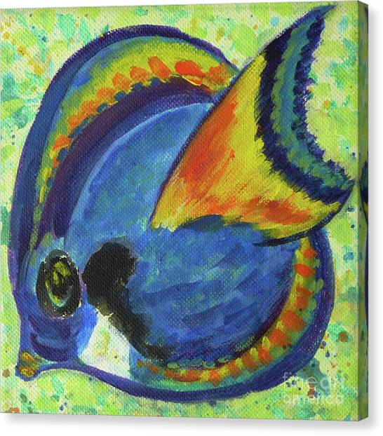 Tropical Fish Series 3 Of 4 Canvas Print
