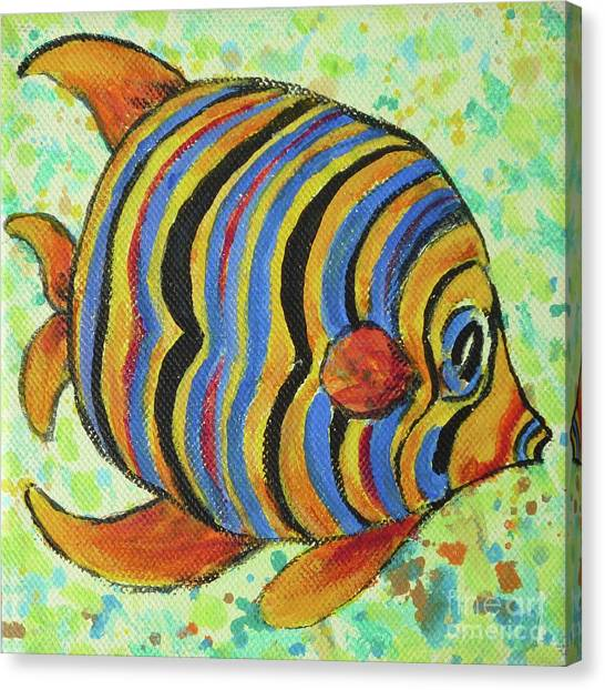 Tropical Fish Series 4 Of 4 Canvas Print