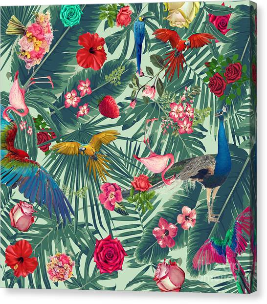 Tropical Canvas Print - Tropical Fun Time  by Mark Ashkenazi
