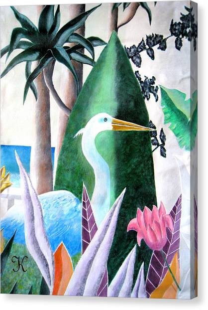 Tropical Goose Canvas Print by Roger Golden