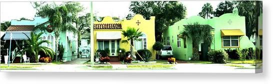Tropical Homes Canvas Print
