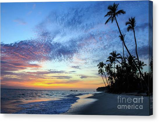 Tropical Island Sunrise Canvas Print