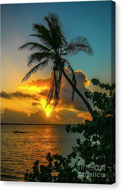 Tropical Lagoon Sunrise Canvas Print