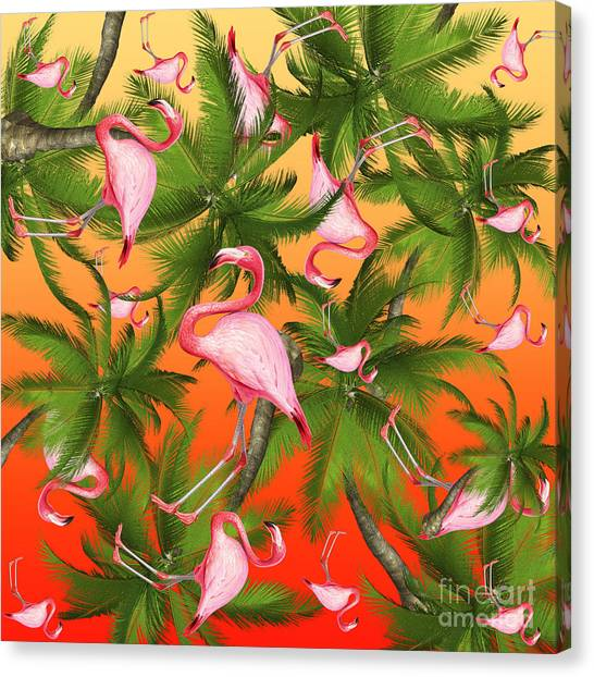 Flamingos Canvas Print - Tropical by Mark Ashkenazi
