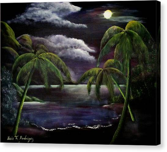 Tropical Moonlight Canvas Print