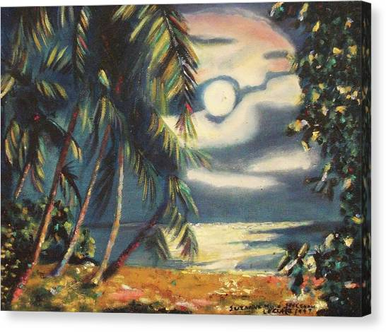 Tropical Nights Canvas Print by Suzanne  Marie Leclair