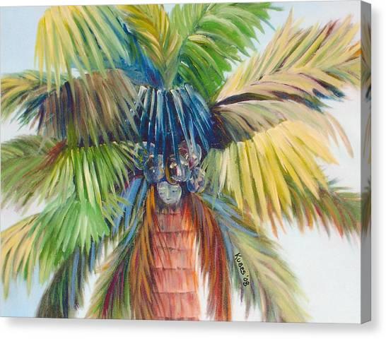 Tropical Palm Inn Canvas Print by Susan Kubes