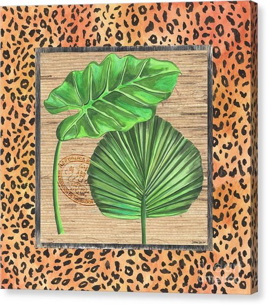 Cheetahs Canvas Print - Tropical Palms 1 by Debbie DeWitt