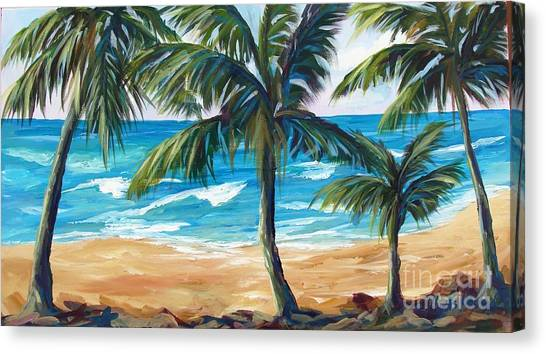 Tropical Palms I Canvas Print