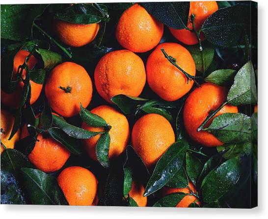 Fruit Baskets Canvas Print - Tropical Poncan Oranges by Fbmovercrafts
