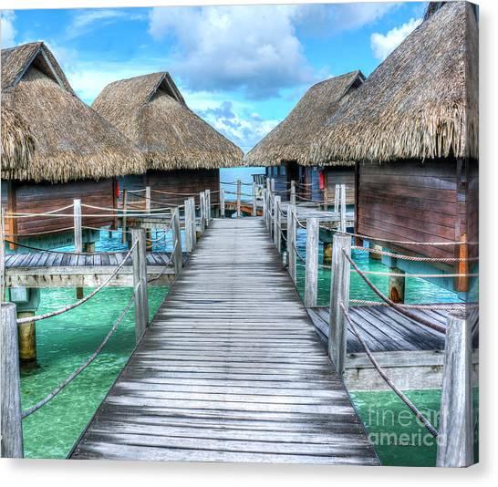 Tropical Resort Paradise Seascape Florida Keys 01 Canvas Print
