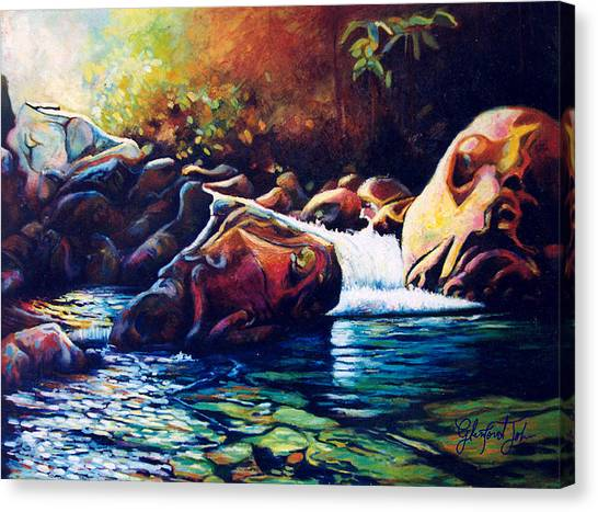 Tropical River Canvas Print