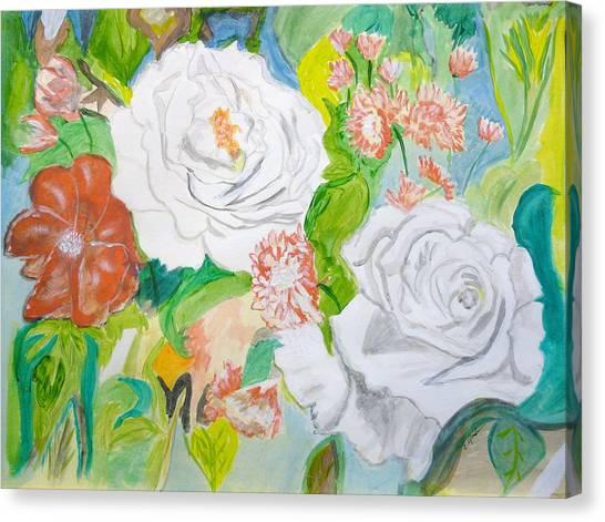 Tropical Rose Canvas Print by Cathy Jourdan