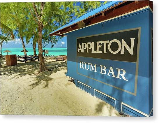 Tropical Rum Bar Canvas Print