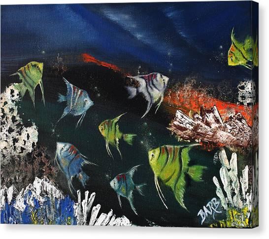 Tropical Seaworld Canvas Print by Barbara Teller