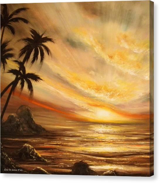 Tropical Sunset 65 Canvas Print
